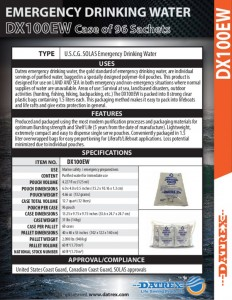 thumbnail of Datrex DX100EW emergency water