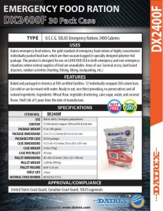 thumbnail of Datrex DX2400F Emergency Ration