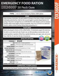 thumbnail of Datrex DX3600F Emergency Ration