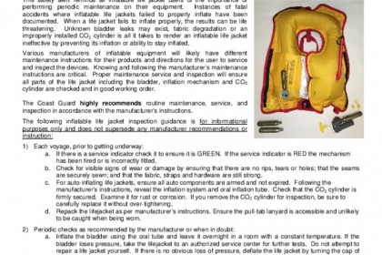 USCG reminder for inflatable inspection pdf