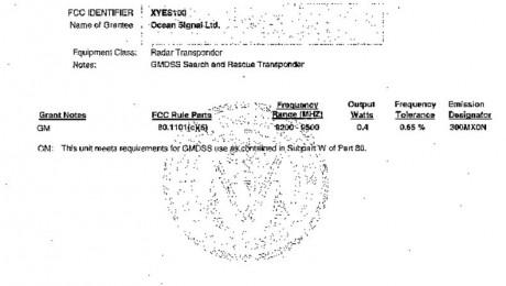 Ocean Signal S100 FCCapproval 2 pdf