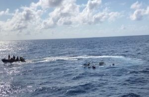 Cutter Cohito rescues 6 from sinking boat off Sunny Isles Fla. 300x196
