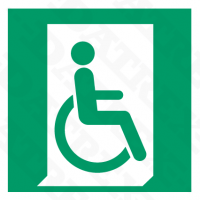 E030 Emergency Exit Handicap Right
