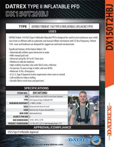 thumbnail of Datrex Trident 150 Type II inflatable