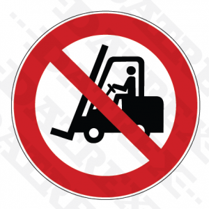 P006 No access for forklift trucks and industrial vehicles