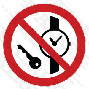 P008 No metallic articles or watches