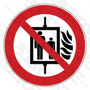 P020 Do not use lift in the event of fire