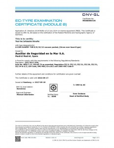 thumbnail of Duarry Datrex Liferaft approval certs