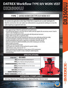 thumbnail of Datrex DX3500 Spec Sheet